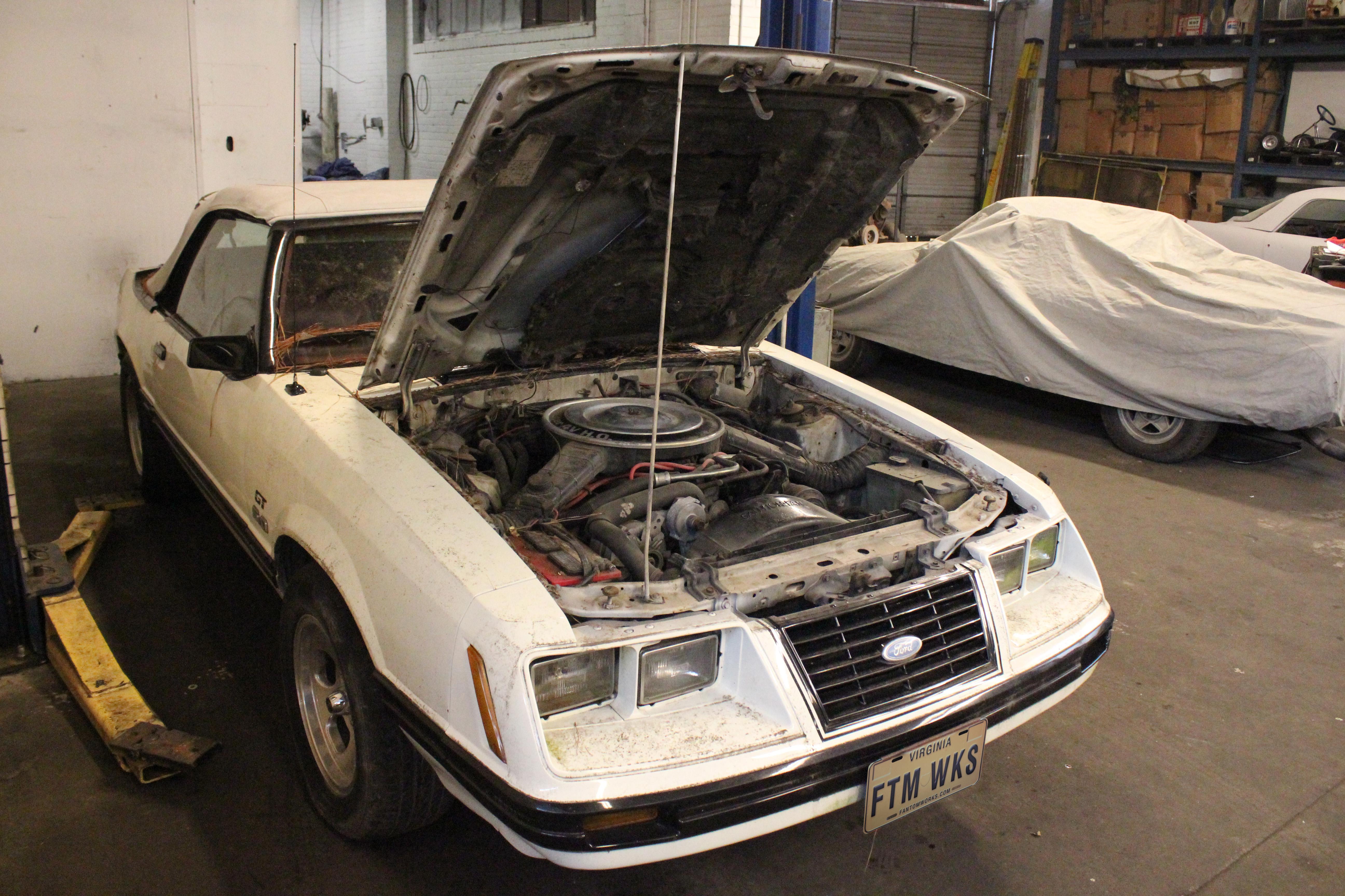1983 Ford Mustang Gt Convertible Jo 01 Arrival 003 Fantomworks Engine